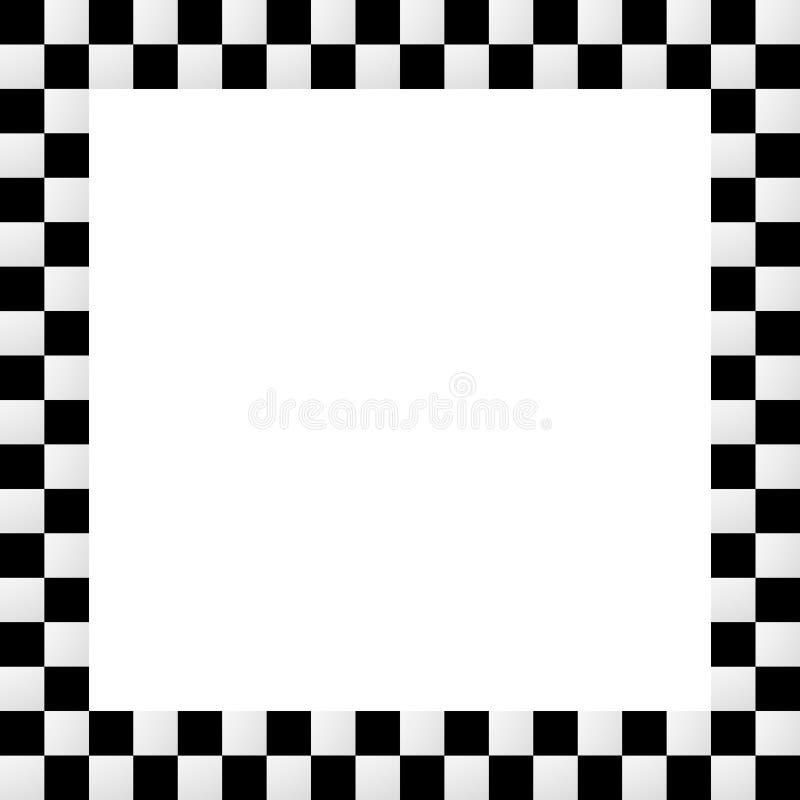 Quadro quadriculado squarish vazio, beira ilustração do vetor