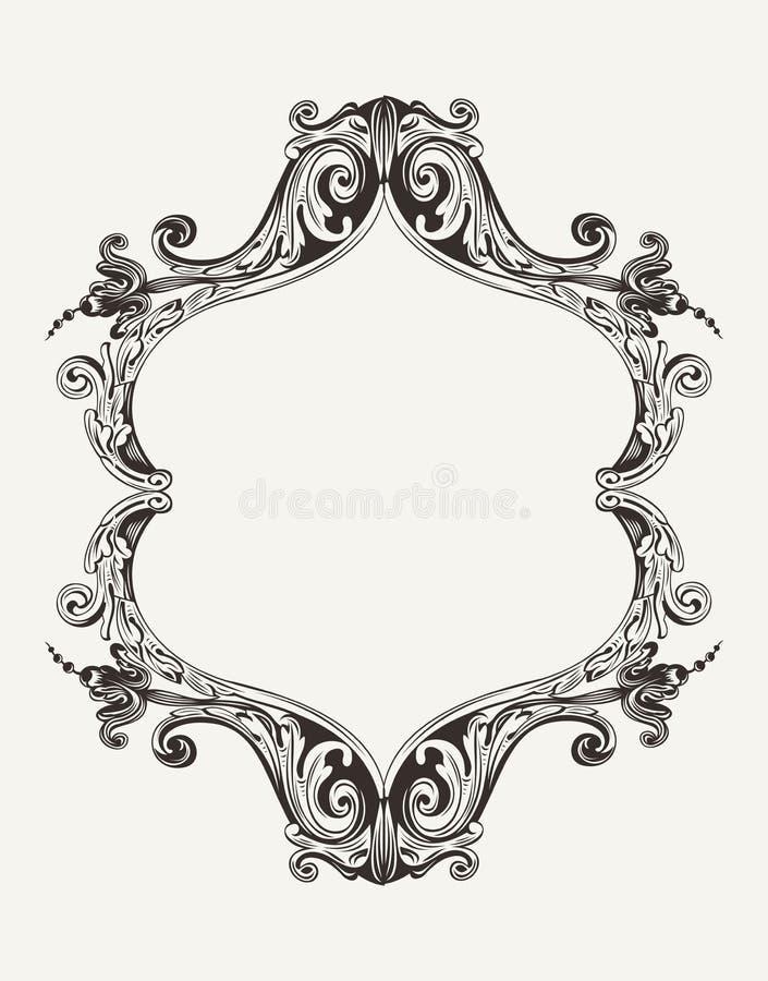 Download Quadro Real Do Vintage Antigo Do Vetor Ilustração do Vetor - Ilustração de elegance, floral: 29836599