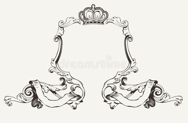 Quadro real elegante com coroa ilustração royalty free