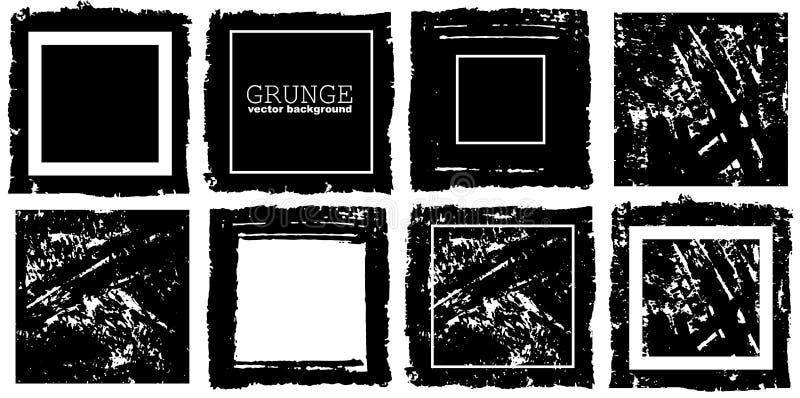 Quadro retangular do vetor Ilustração da tinta do Grunge Molde criativo dos fundos para etiquetas, etiquetas, cartões ilustração do vetor