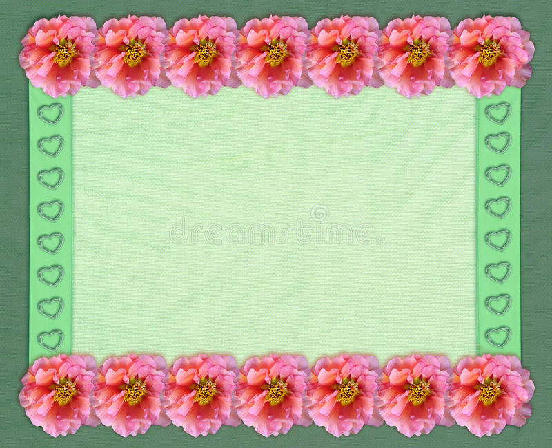 Quadro retangular floral com fundo do tule ilustração do vetor