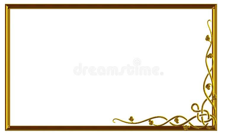 Quadro retangular para o ornamento floral da foto para a faculdade criadora imagem de stock royalty free