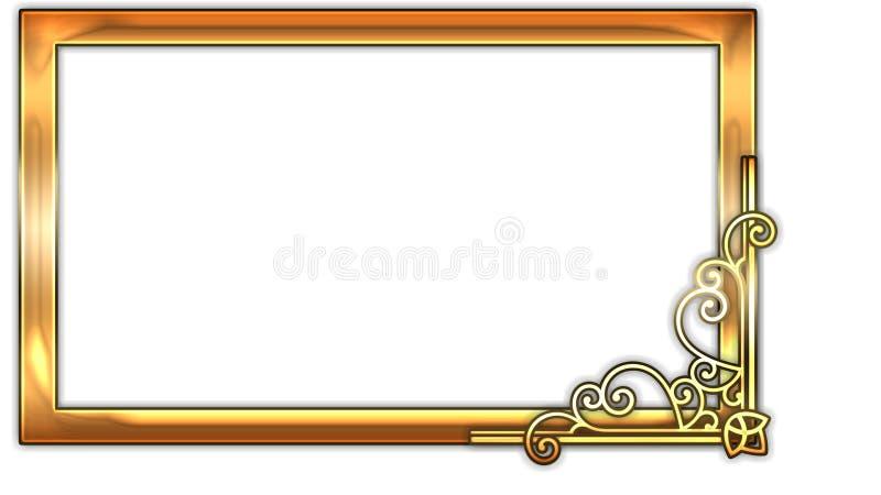 Quadro retangular para o ornamento floral da foto para a faculdade criadora foto de stock royalty free