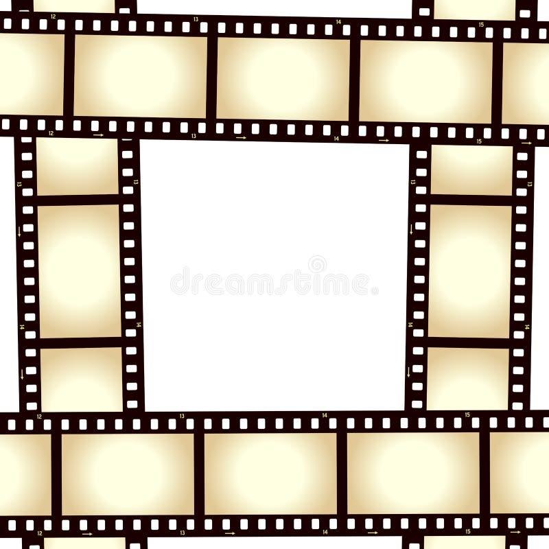 Quadro retro da foto da tira do filme ilustração do vetor