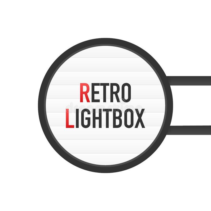 Quadro retro do vintage do quadro de avisos do lightbox Lightbox com projeto customizável Bandeira clássica para sua projetos ou  ilustração royalty free