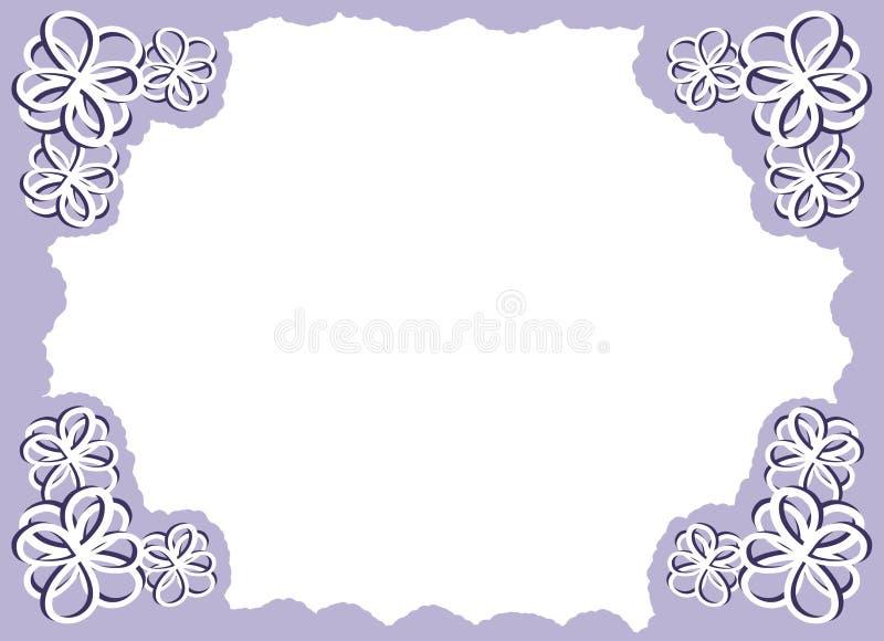 Quadro roxo da foto da flor ilustração do vetor