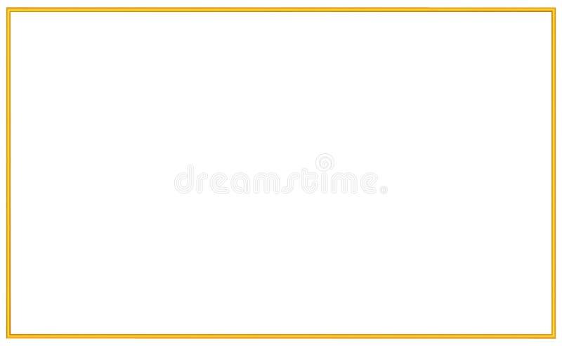 Quadro simples do ouro do vintage Beira decorativa do estilo dourado bonito, isolada Objeto da arte elegante de Deco Espaço vazio ilustração do vetor