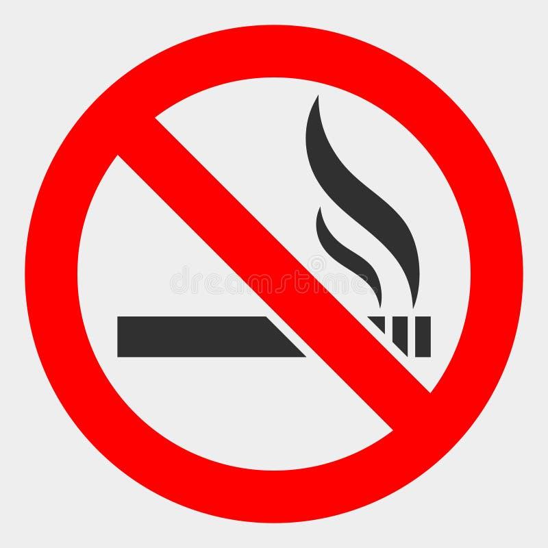 Quadro televisivo severo fumando icona su fondo bianco illustrazione di stock