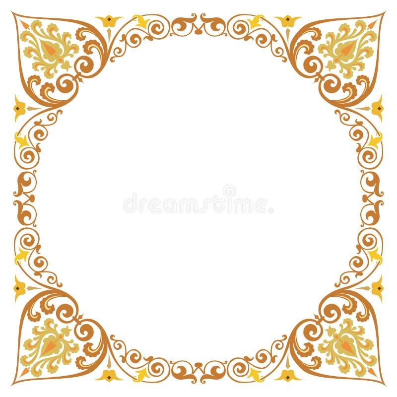 Quadro textured bonito da beira ilustração do vetor