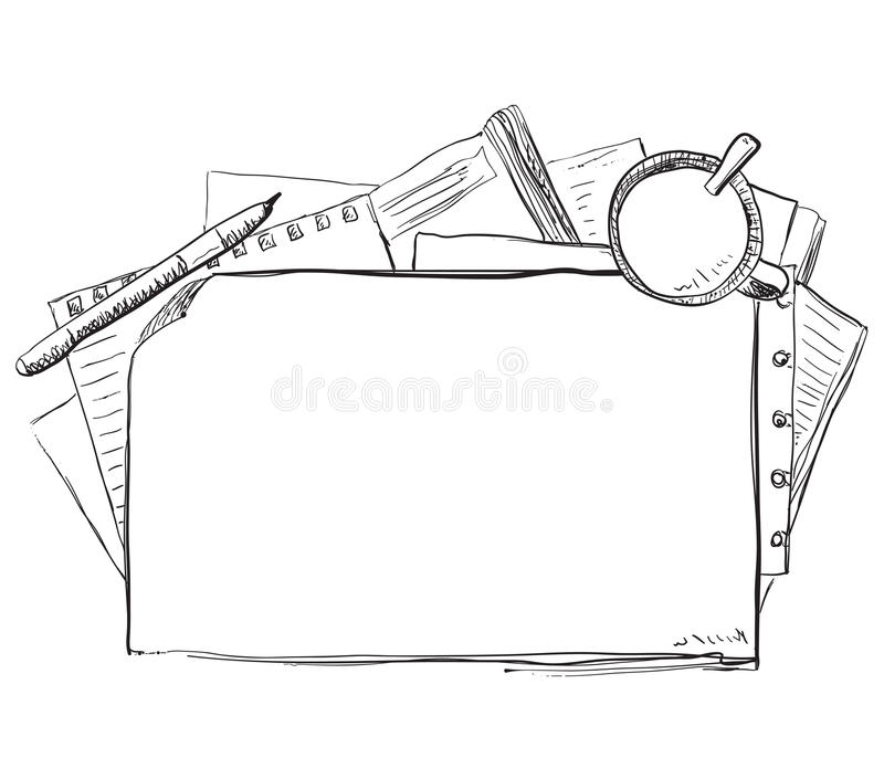 Quadro tirado mão do negócio ilustração do vetor