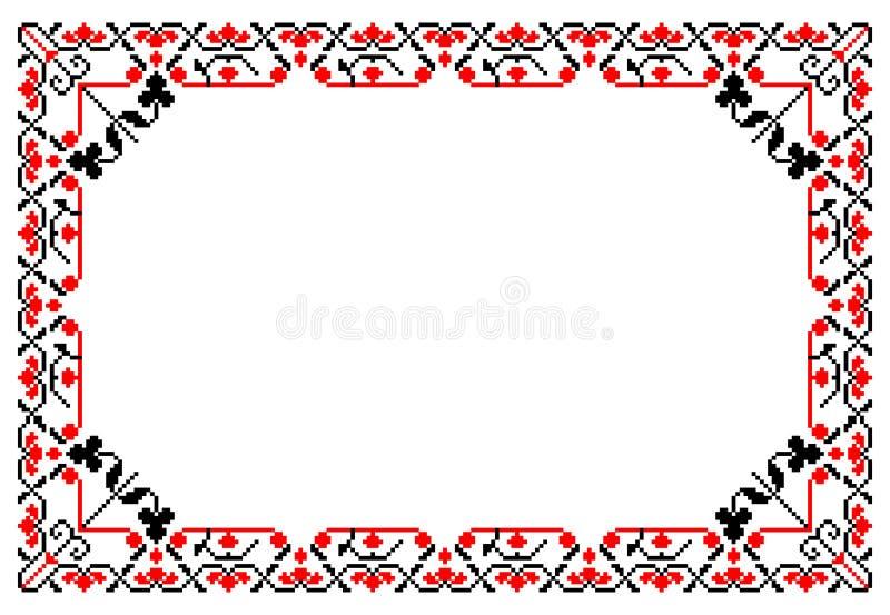 Quadro tradicional romeno ilustração do vetor