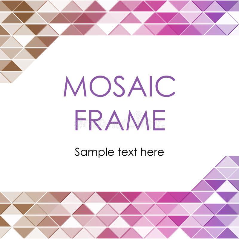 Quadro triangular do mosaico ilustração royalty free