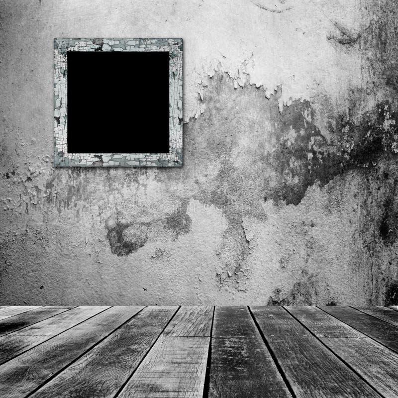 Quadro vazio da foto na parede velha ilustração do vetor