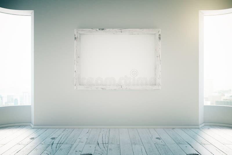 Quadro vazio na sala branca ilustração do vetor