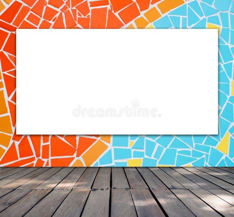 Quadro vazio na telha de mosaico imagem de stock royalty free