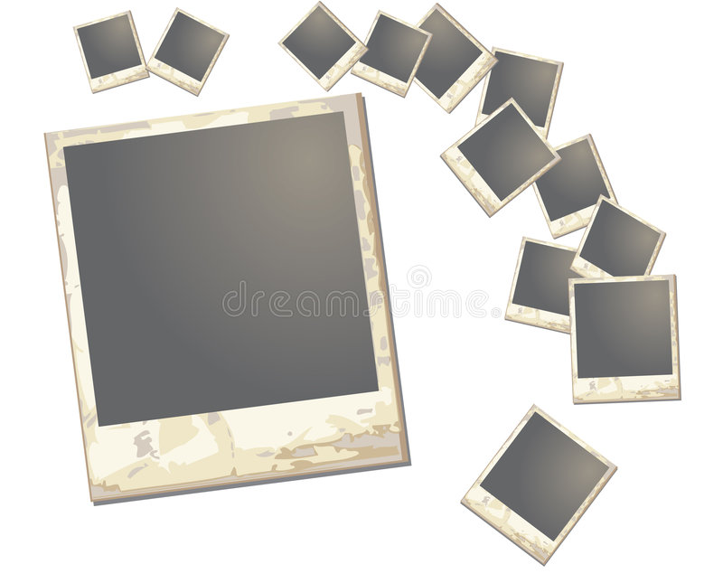 Quadro velho do polaroid ilustração do vetor