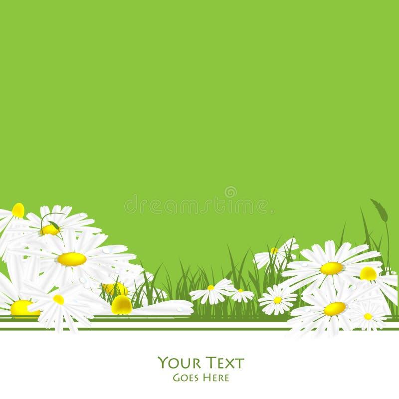 Quadro verde ambiental do vetor ilustração stock