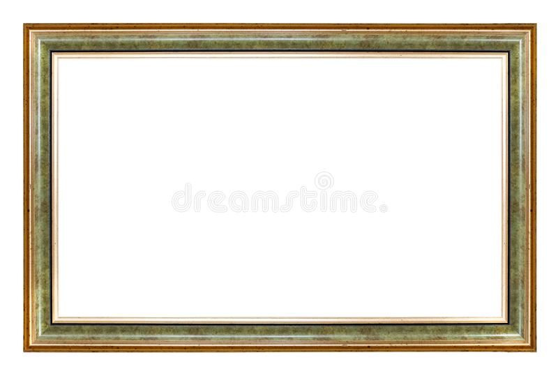 Quadro verde e dourado do retângulo fotos de stock