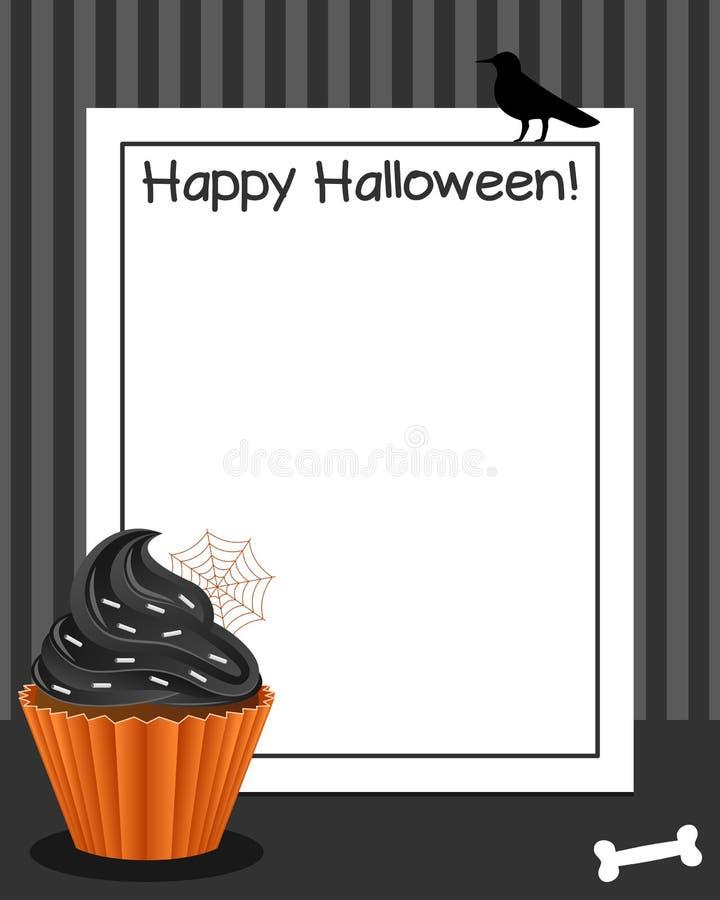 Quadro vertical do queque de Dia das Bruxas [2] ilustração stock