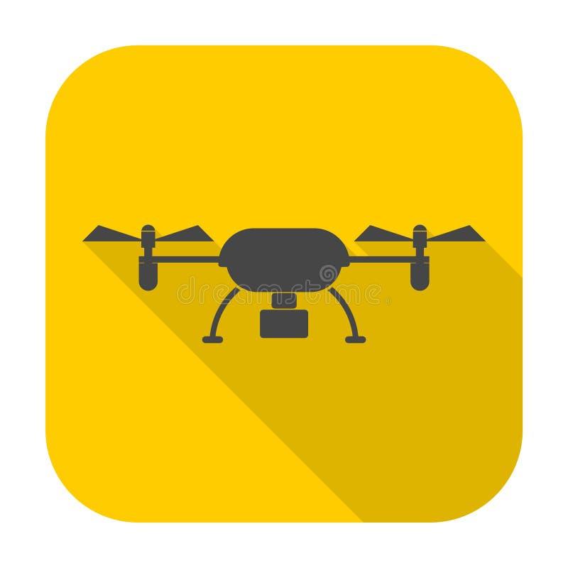 Quadrocopter与长的阴影的寄生虫象 皇族释放例证