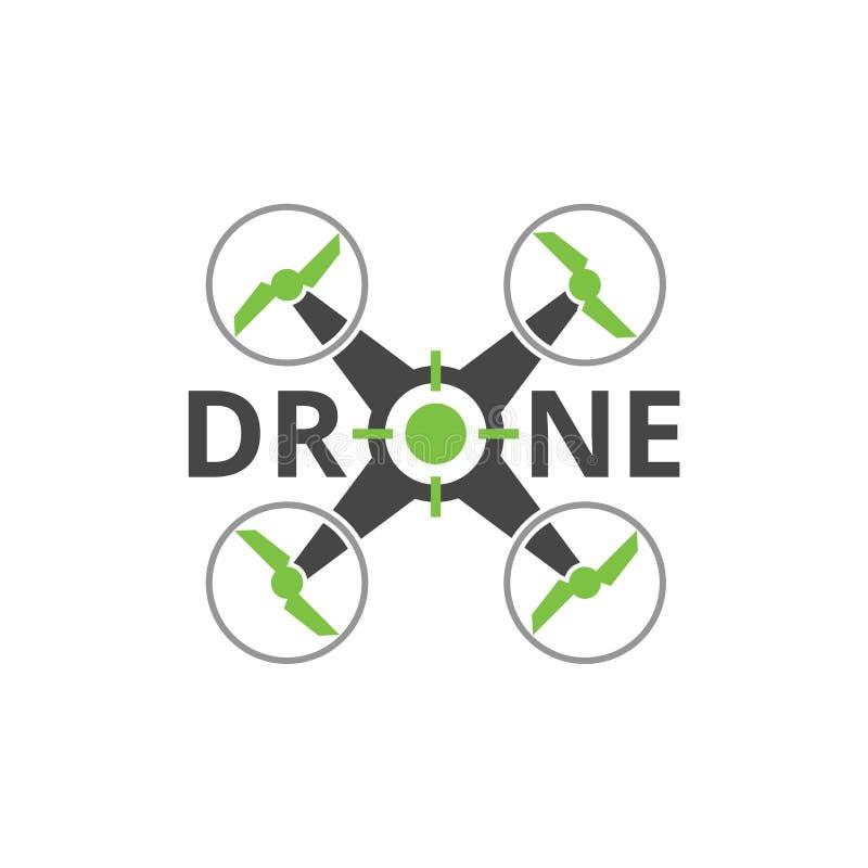 Quadrocopter商标,寄生虫象,靶机商标象设计 向量例证