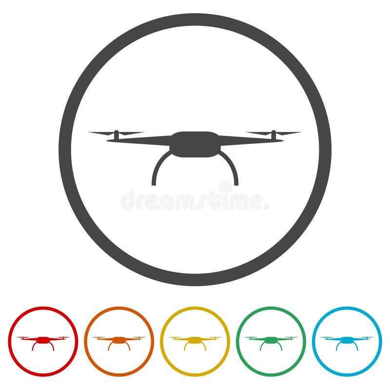 Quadrocopter寄生虫象,包括的6种颜色 皇族释放例证