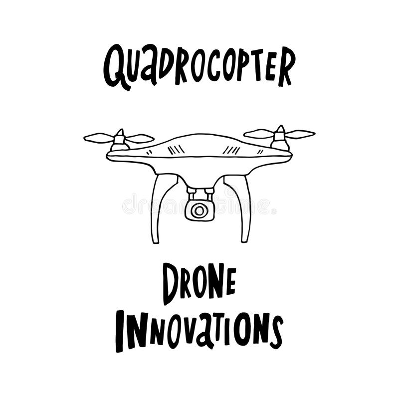 Quadrocopter del fuco royalty illustrazione gratis