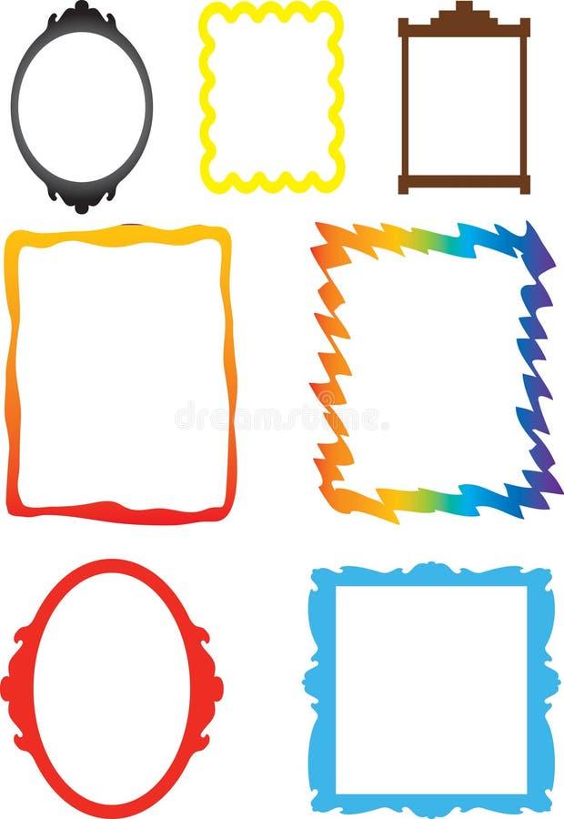 Quadros ilustração stock