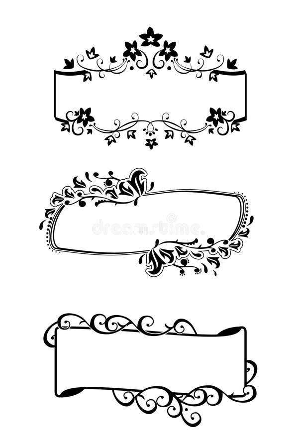 Quadros ajustados/vetor ilustração royalty free