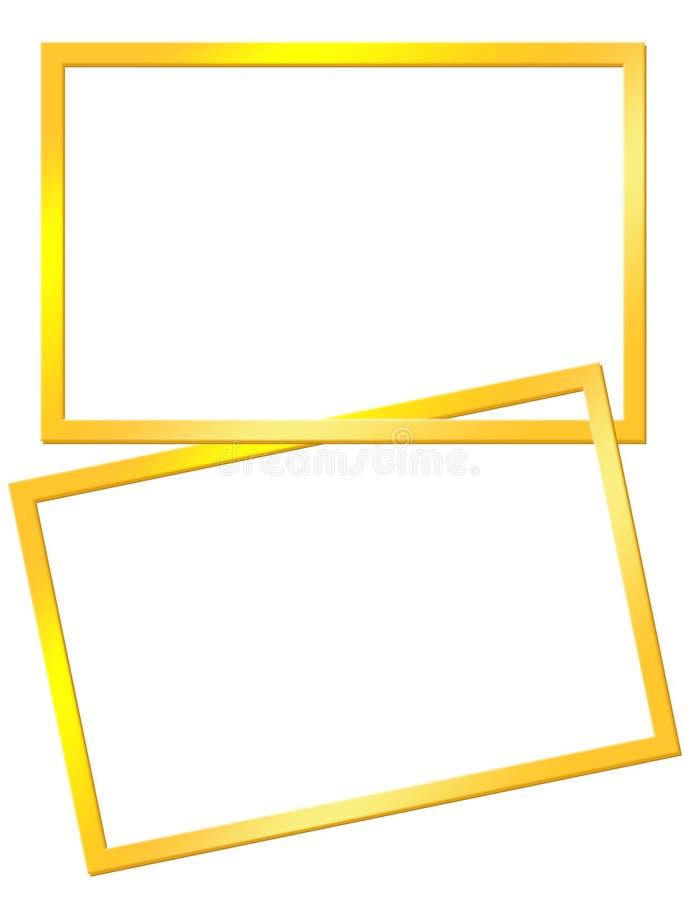 Quadros amarelos ilustração do vetor