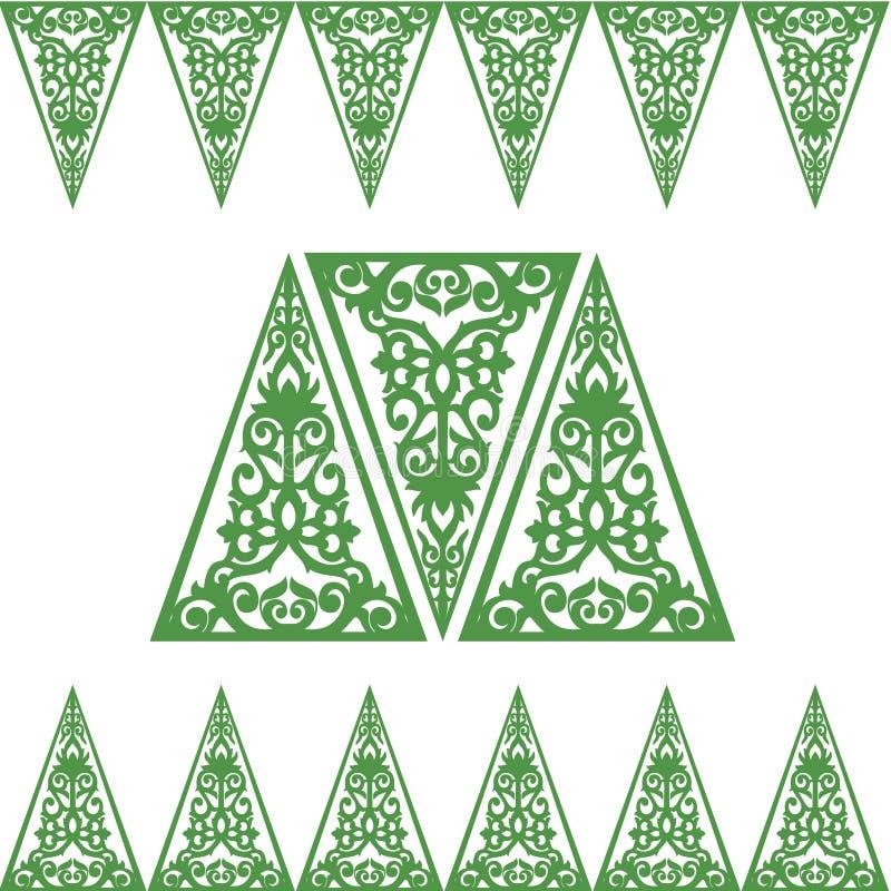 Quadros barrocos do ornamento do triângulo ilustração stock