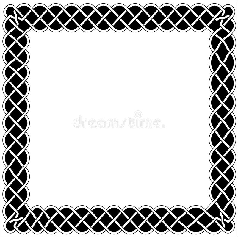 Quadros, beiras e estilo preto e branco do céltico ou o árabe ilustração royalty free
