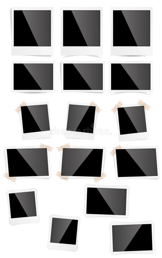 Quadros da foto ilustração do vetor