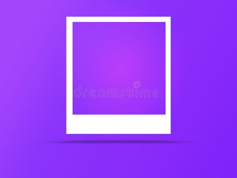 Quadros da foto com espa?o para o texto e a sombra macia ilustração stock
