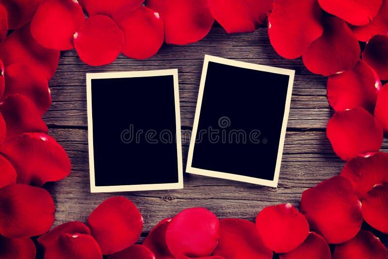 Quadros da foto da placa do dia de Valentim fotos de stock royalty free