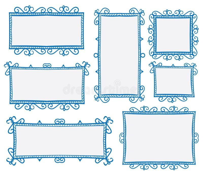 Quadros da garatuja ilustração royalty free
