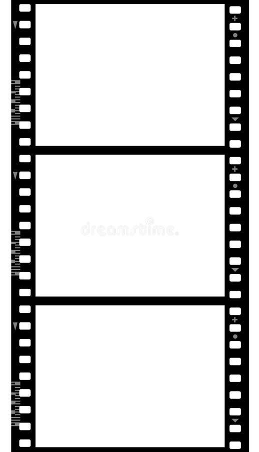 Quadros da película fotográfica (sem emenda) ilustração royalty free