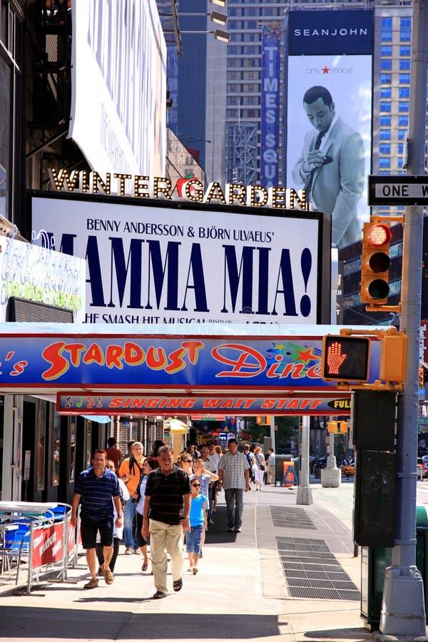 Quadros de avisos de Broadway foto de stock