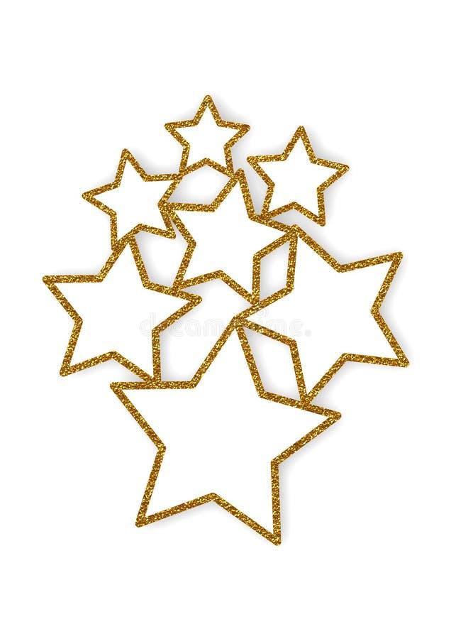 Quadros de brilho do múltiplo das estrelas ilustração do vetor