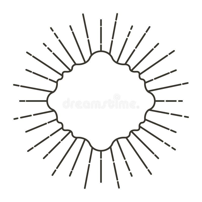 Quadros do art deco com linhas ilustração royalty free
