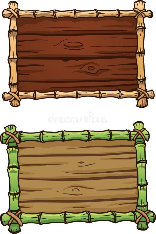 Quadros do bambu dos desenhos animados ilustração royalty free