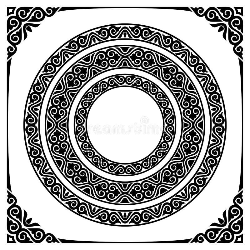 Quadros do círculo ilustração royalty free