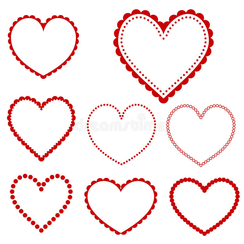 Quadros do coração do vetor ilustração stock