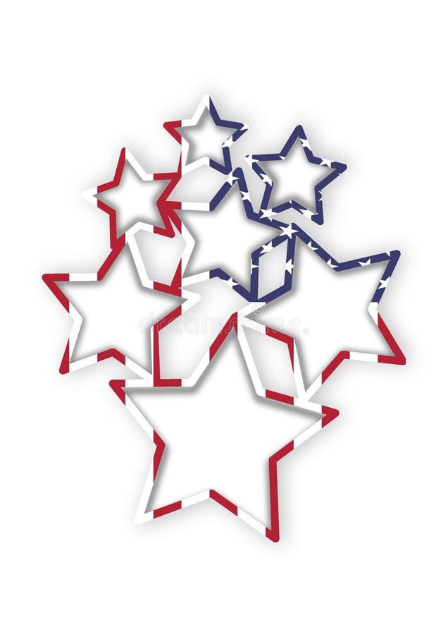 Quadros do múltiplo da bandeira dos Estados Unidos ilustração stock