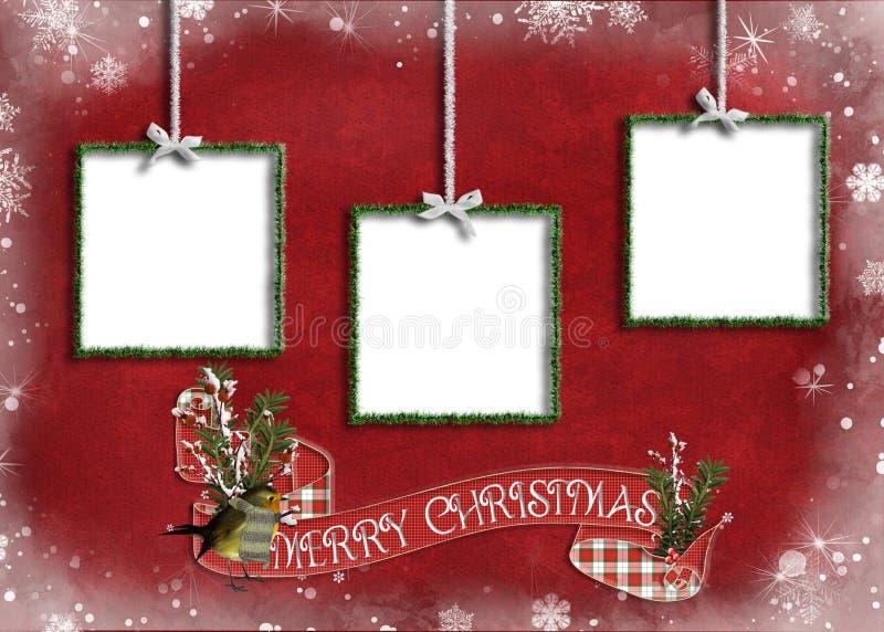 Quadros do ornamento do Natal ilustração royalty free