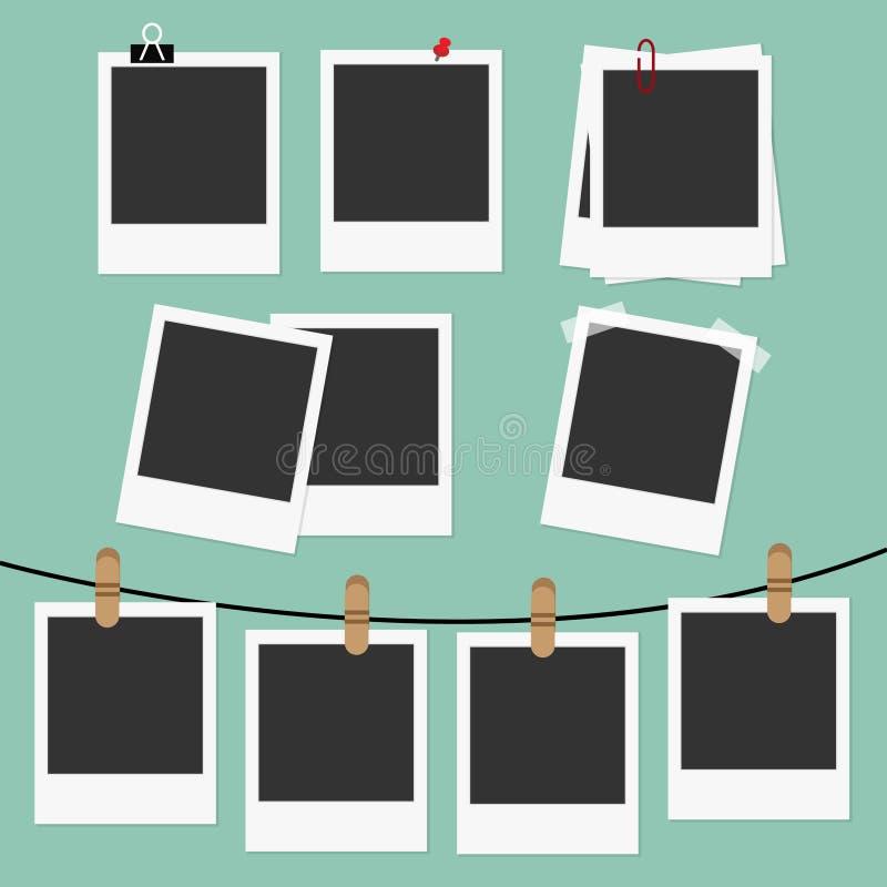Quadros do Polaroid ajustados ilustração royalty free