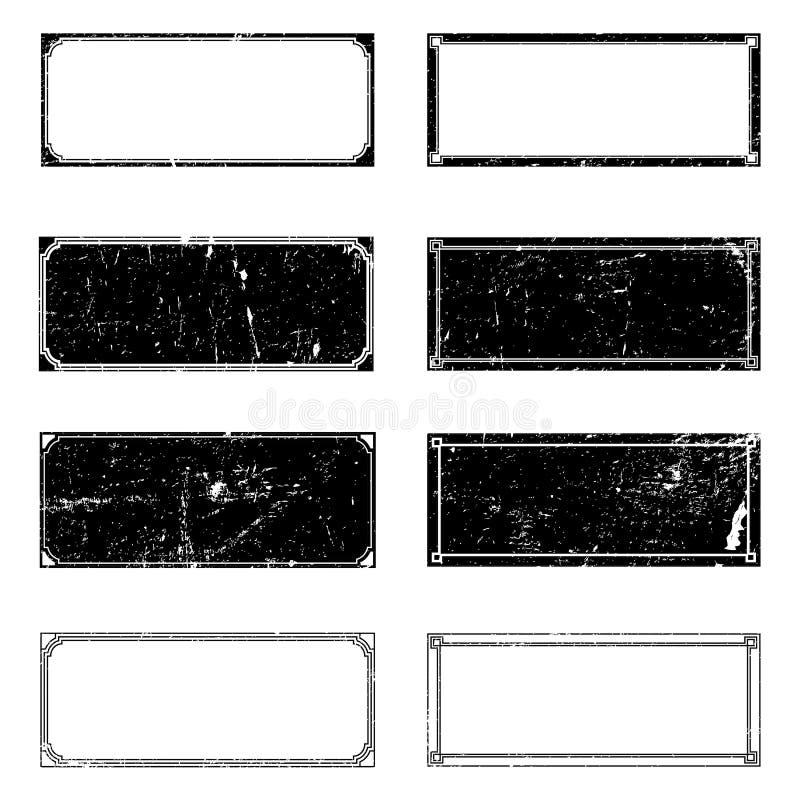 Quadros do retângulo do Grunge ilustração stock