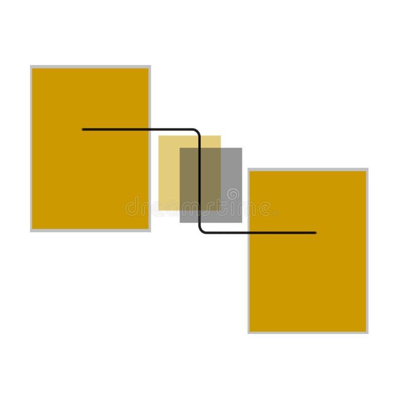 Quadros do vetor e linhas, linha dos quadros e de Vetor ilustração stock