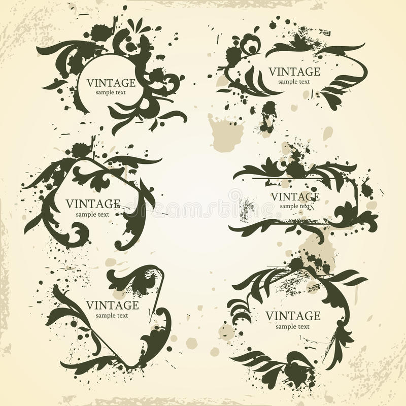 Quadros do vintage ilustração stock