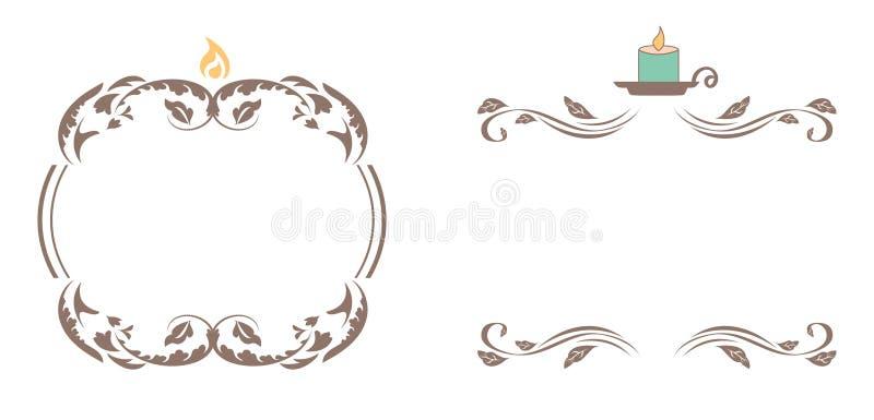 Quadros elegantes da vela ilustração stock